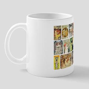 Art Nouveau Advertisements Collage Mug