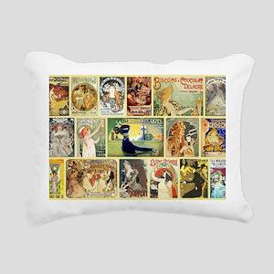 Art Nouveau Advertisemen Rectangular Canvas Pillow