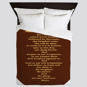 The Lords Prayer Wheat Queen Duvet