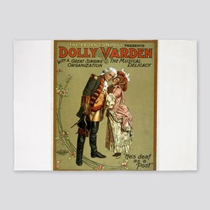 Dolly Varden 2 - US Lithograph - 1906 5'x7'Area Ru