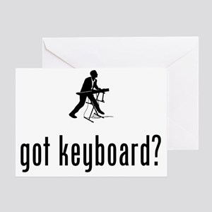 Keyboardist-02-A Greeting Card