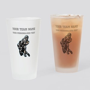Football - Gray Drinking Glass