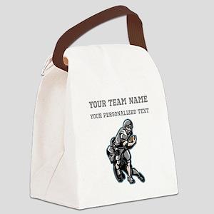 Football - Gray Canvas Lunch Bag