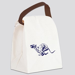Red Dogs Rock Canvas Lunch Bag