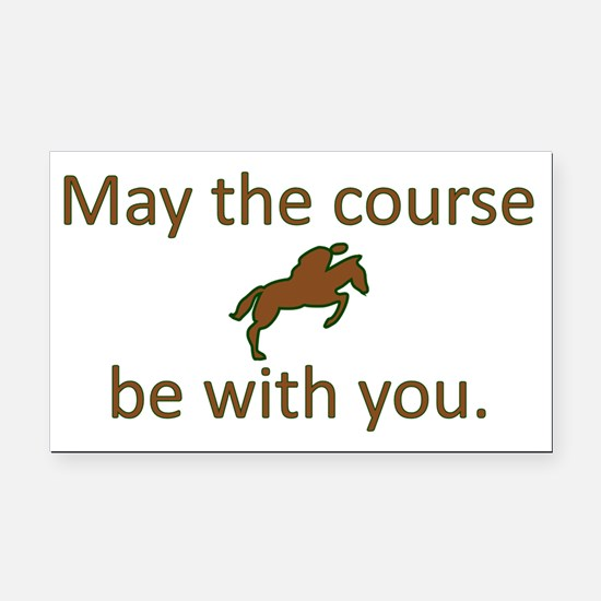 May the course be with you -  Rectangle Car Magnet