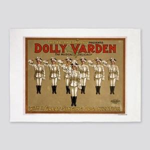 Dolly Varden 3 - US Lithograph - 1906 5'x7'Area Ru