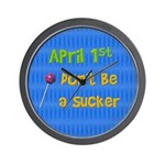 April 1st Sucker Wall Clock