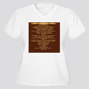 The Lords Prayer  Women's Plus Size V-Neck T-Shirt