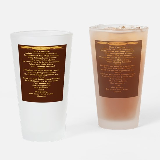 The Lords Prayer Wheat Drinking Glass