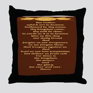 The Lords Prayer Wheat Throw Pillow