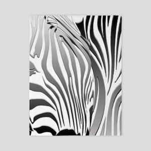 Zebra Silver and Black Twin Duvet