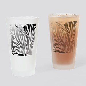 Zebra Silver and Black Drinking Glass