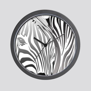 Zebra Silver and Black Wall Clock