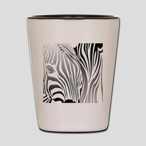 Zebra Silver and Black Shot Glass