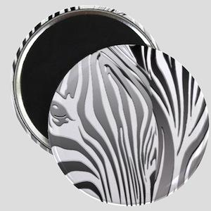 Zebra Silver and Black Magnet