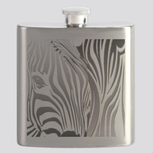 Zebra Silver and Black Flask