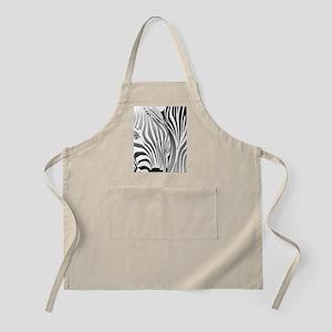 Zebra Silver and Black Apron