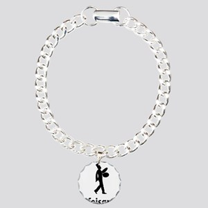Marching-Band---Bass-Cym Charm Bracelet, One Charm