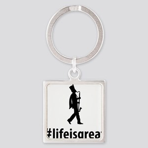 Marching-Band---Bass-Clarinet-06-A Square Keychain