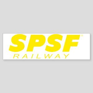 SPSF Railway Modern Herald Yellow Sticker (Bumper)
