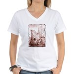 Crumbling Castle Women's V-Neck T-Shirt