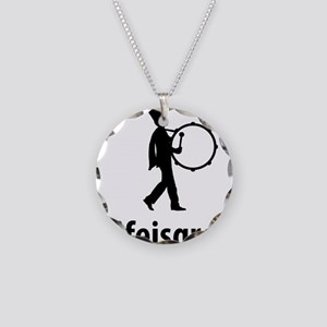 Marching-Band---Bass-Drum-06 Necklace Circle Charm