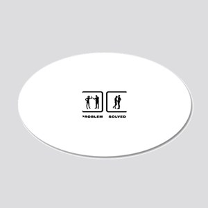 Manhood-Check-02-10-A 20x12 Oval Wall Decal