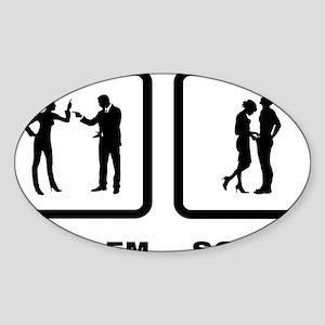 Manhood-Check-02-10-A Sticker (Oval)