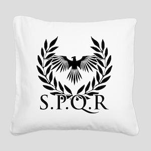 SPQR Square Canvas Pillow