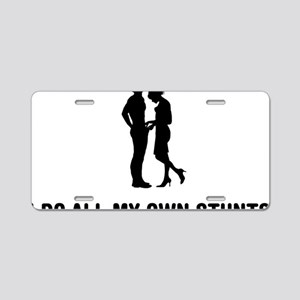 Manhood-Check-02-03-A Aluminum License Plate