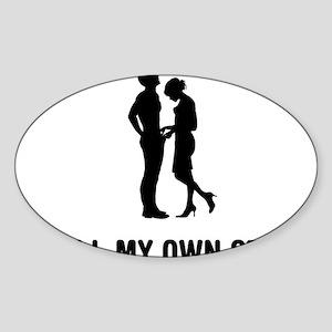 Manhood-Check-02-03-A Sticker (Oval)