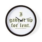 Catholic Lent Joke Wall Clock