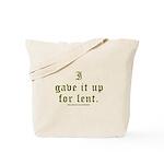 Catholic Lent Joke Tote Bag