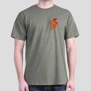 Red/Gold Ring Dragon Dark T-Shirt