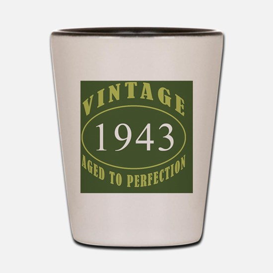 Vintage 1943 Coaster Shot Glass
