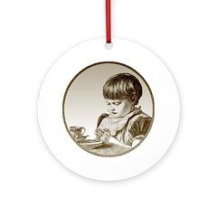 Child Saying Grace Ornament (Round)