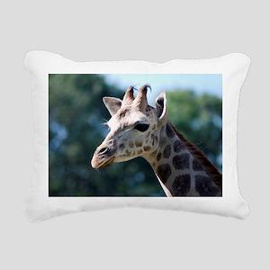 Young Rothschild Giraffe Rectangular Canvas Pillow