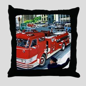 FIRETRUCK Throw Pillow