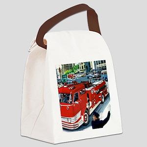 FIRETRUCK Canvas Lunch Bag