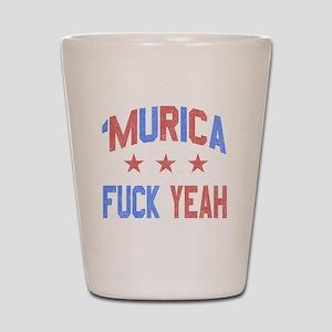 Murica Fuck Yeah Shot Glass