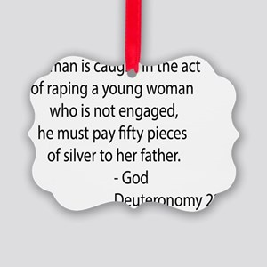 deuteronomy 22.28 black Picture Ornament