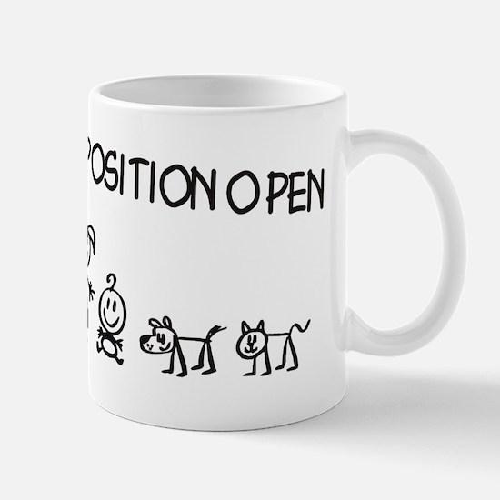 Stick Figure Family Woman Position Open Mug