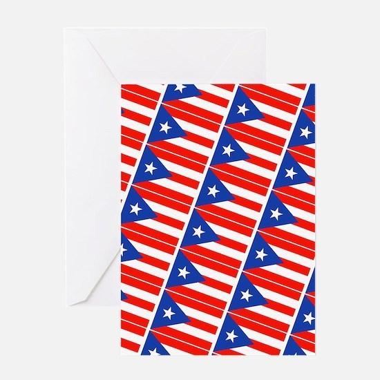 Puerto Rican Flags Banderas 22 Greeting Card