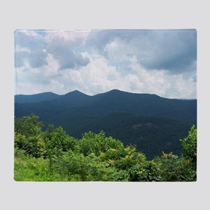 Blue Ridge Parkway near Asheville, N Throw Blanket