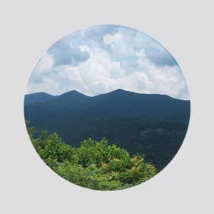 Blue Ridge Parkway near Asheville,  Round Ornament
