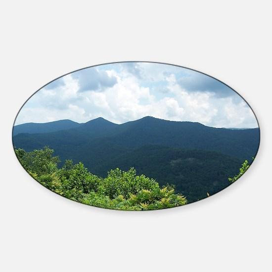 Blue Ridge Parkway near Asheville,  Sticker (Oval)