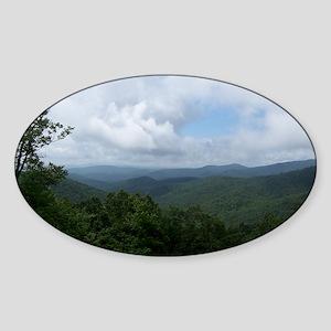 Blue Ridge Parkway - Asheville, NC Sticker (Oval)