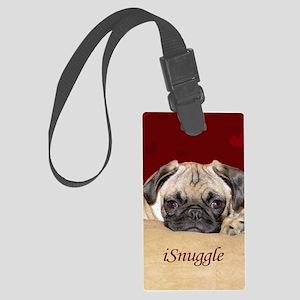 Adorable iSnuggle Pug Puppy Large Luggage Tag