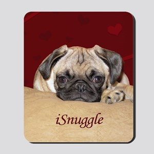 Adorable iSnuggle Pug Puppy Mousepad