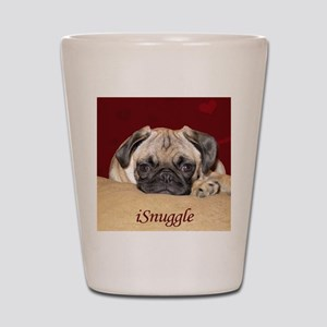 Adorable iSnuggle Pug Puppy Shot Glass